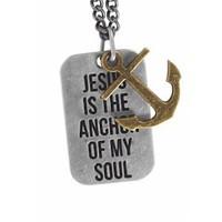 Amazon.com: Jesus is the Anchor - Guys Christian Necklace: Clothing