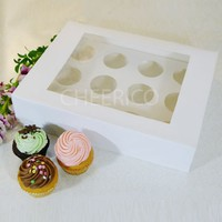 25 boxes of Window Cupcake Box with 12 Cupcake Holder($2.3 Per Set/Per Box)