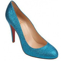 Christian Louboutin  Ron Ron-Blue $150,distinguished shoes brand on-line shop, such as jimmychoochloe,jimmy choo chloe,jimmy choo shoes.