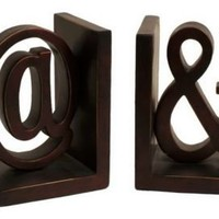 One Kings Lane - Accents We Love - Resin Symbol Bookends
