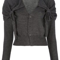 Toga Cropped Knotted Cardigan - Feathers - farfetch.com
