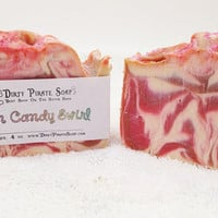 Cotton Candy Swirl - Pink Sugar Scented Cold Process Soap Vegan