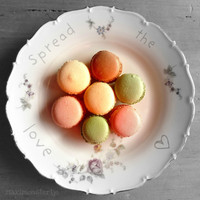 Valentines Day Art Print  French Macarons by Maximonstertje