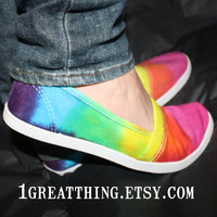 Tie Dye Shoes  - Size 7 8 9 or 10 - READY to SHIP
