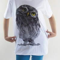 Owl Glasses T-Shirt Bird T-Shirt - Funny Owl T-Shirt Owl Shirt Animal T-Shirt Women T-Shirt Unisex T-Shirt Men T-Shirt Short Sleeve Size M