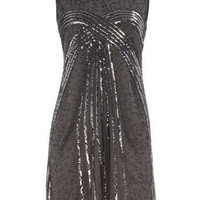 Grey beaded sleeveless dress - Party Dresses - Dresses - Dorothy Perkins