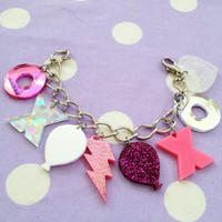 Hugs and Kiss Charm Bracelet by imyourpresent on Etsy