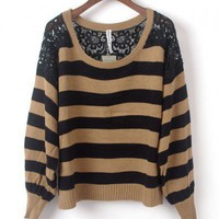 Black lace sweater from ClothLess