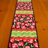 Quilted Table Runner Floral, Table Runners, Patchwork