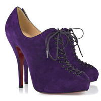 Christian Louboutin 24 Trous 120 Suede Ankle Boots - $212.00