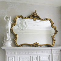 Miss Lala's Gold Looking Glass  |  Mirrors  |  Mirrors & Screens  |  French Bedroom Company
