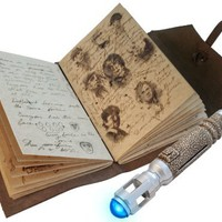 Doctor Who The Journal of Impossible Things with Mini Sonic Screwdriver Pen