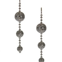 Shamballa Jewels Earrings :: Shamballa Jewels black gold and black diamonds earrings | Montaigne Market