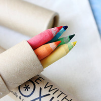 5 Piece EcoFriendly Recycled Paper Color Pencil by WriteWithMoxie