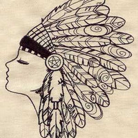 Native American Feather Headdress by EmbroideryEverywhere on Etsy