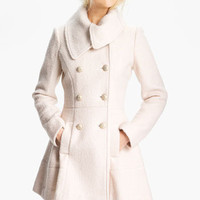 GUESS Asymmetrical Collar Bouclé Coat (Online Exclusive) | Nordstrom