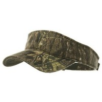 Amazon.com: Garment Washed Camo Visor-Mossy Oak New Break Up W40S45B: Clothing