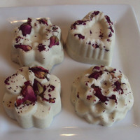 Gourmet Bath Truffles in Rose Absolute Melts with Unrefined Cocoa Butter And Shea Butter / Fair Trade Butters