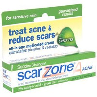 Amazon.com: Sudden Change Scar ZoneA Acne Treatment & Scar Diminishing Cream, for Sensitive Skin, 0.5-Ounce Tubes, (Pack of 3): Beauty
