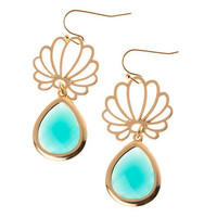 Pree Brulee - Turquoise Lotus Earrings