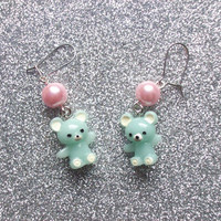 Sweet Teddy Bear Earrings from On Secret Wings