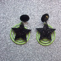 Pizzazz - Jem Inspired Earrings from On Secret Wings