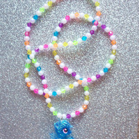 Glitter Rainbow Dash Necklace  from On Secret Wings