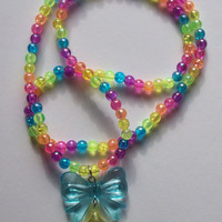 Magical Rainbow Brite Necklace from On Secret Wings