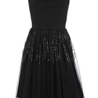 Oasis Dresses | Black Sequin Mesh Dress | Womens Fashion Clothing | Oasis Stores UK