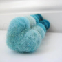 Aqua and Teal Needle Felted Heart Pebbles  Valentine's by SweetPB