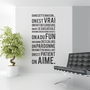French Vinyl Wall Sticker Decal Dans Cette Maison by urbanwalls