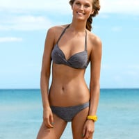 H&M - Bikini Bottoms - Dark gray - Ladies