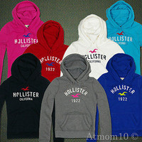 NEW Arrival ! Hollister Sweatshirt Women Crescent Bay Hoodie Jumper XS S M L NWT