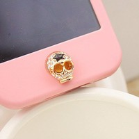 Skull Home Button Sticker for iPhone 4,4s,5 from LOOBACK FASHION STORE