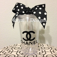 16oz Personalized CoCo Chanel Inspired Tumbler