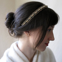 Juliet Pearl and Rhinestone Headband by BaroqueAndRoll on Etsy