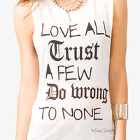 Love All Trust Few Muscle Tee