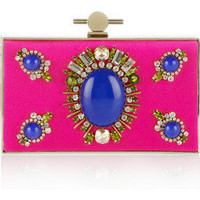 Jason Wu | Karlie crystal and stone-embellished satin box clutch | NET-A-PORTER.COM