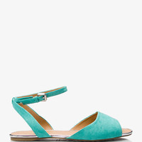 Metallic Trim Faux Suede Sandals | FOREVER 21 - 2021462215