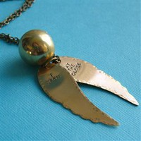 Snitch Necklace Long - Spiffing Jewelry