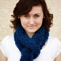 Cozy, Warm, Blue Scarf