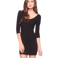 Essential 3/4 Slv Bodycon Dress | FOREVER21 - 2000015998
