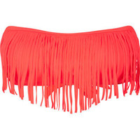 DAMSEL Fringe Bandeau Bikini Top 189061730 | Swimsuits | Tillys.com
