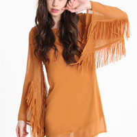 Awanata Deep Back Fringe Dress - &amp;#36;46.00 : ThreadSence.com, Your Spot For Indie Clothing &amp; Indie Urban Culture