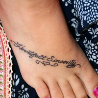 Tattoo Gallery   Blog Archive    quote tattoos on feet