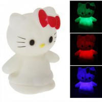 Wonderful Kitty Shaped Color-changing Night Light Holy LED Lamp for Decoration