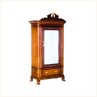 Lawrie Teak, Rosewood and Cedar Armoire,Anglo ,Indian ,Burma ,Teak ,Rosewood ,Cedar ,Armoire ,Antique