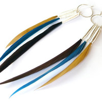 Small Interchangeable Feather Earrings in by Stilltreejewellery