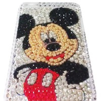 [WG] MICKEY MOUSE Apple iPod Touch 4th Generation 4G iTouch 4 Full Diamond Rhinestones Bling Jewele