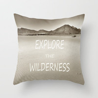 Explore the volcanic paradise. Wilderness Vintage Throw Pillow by Guido Montañés | Society6